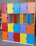 Šatníkové skrinky - farebné