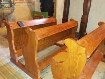 Kostolné lavice - realizácia