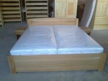 Manželská posteľ 200x180 - dub