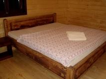 Manželská posteľ 200x180 kefovaná a natretá olejom