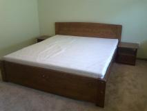 Manželská posteľ 200x180 morená -orech