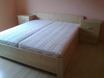 manželská postel 200x180 prevedenie prírodný javor