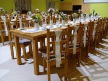 Realizácia agátové stoly a stoličky