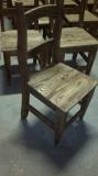 Stolička kefovaná a natretá olejom